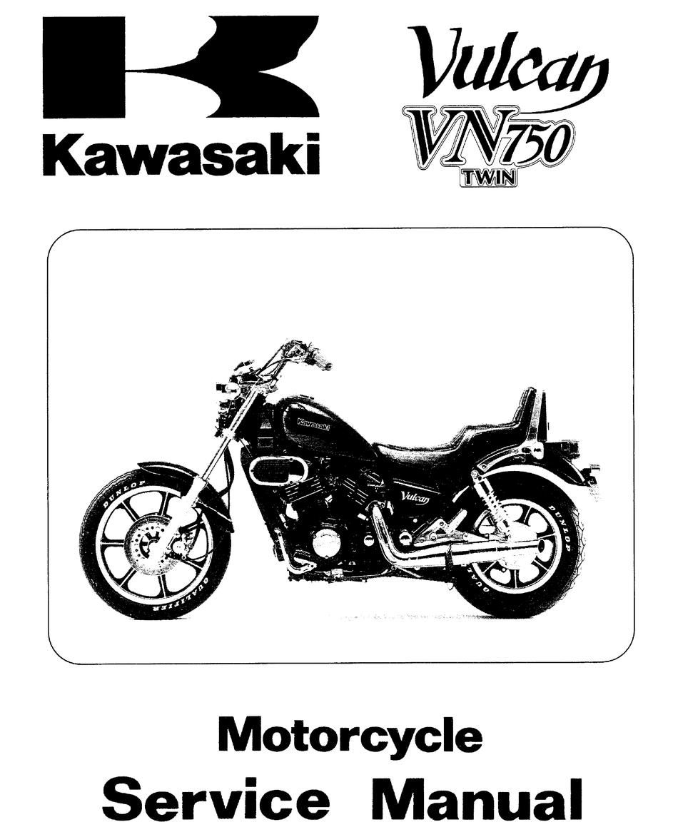 Kawasaki Vn 750 Service Manual Pdf Download Manualslib