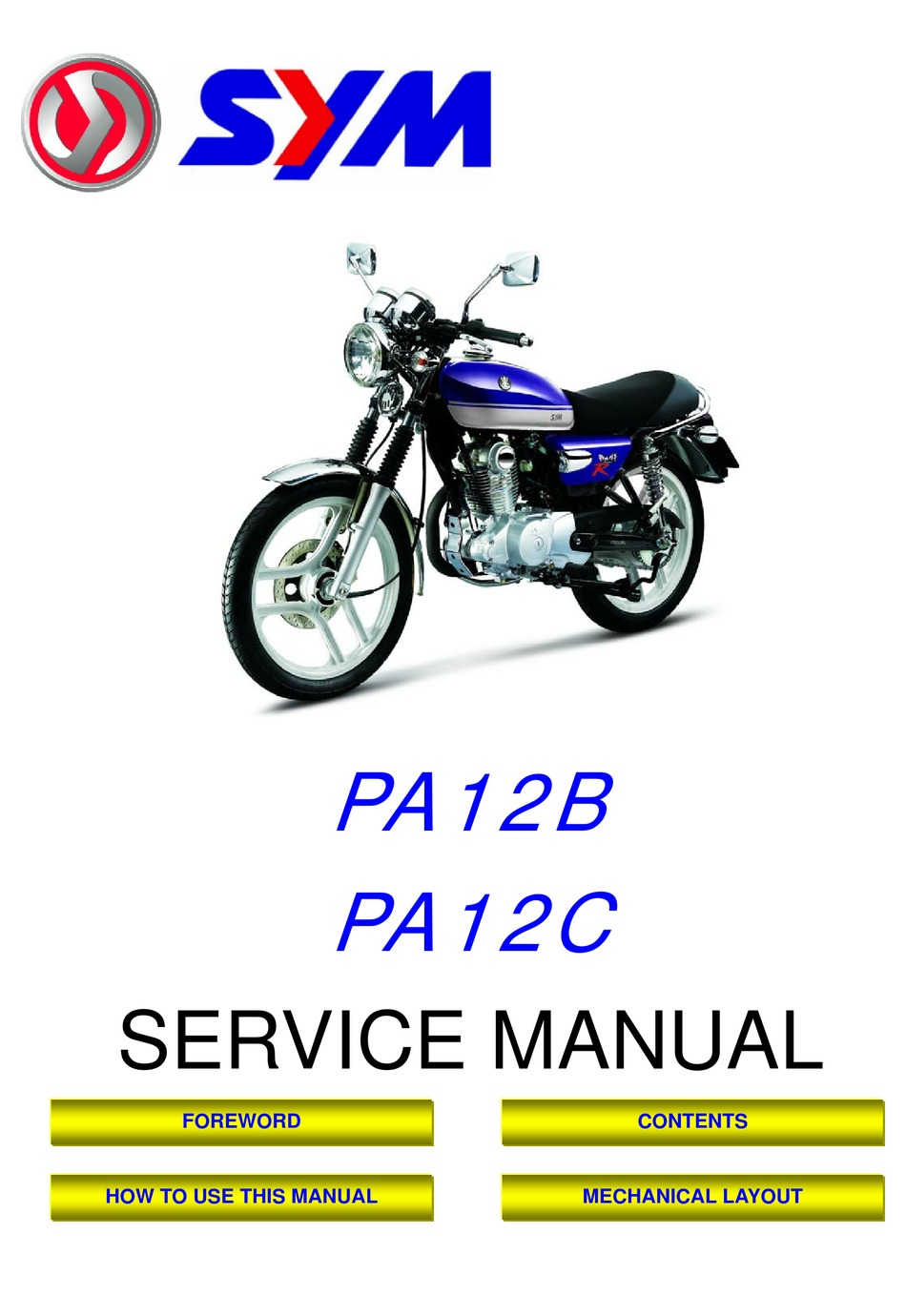 Sym Pa12b Service Manual Pdf Download Manualslib