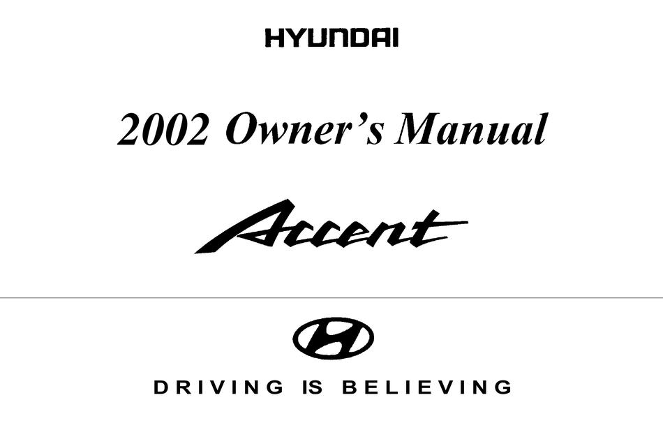 hyundai accent 2002 owner's manual pdf download | manualslib  manualslib
