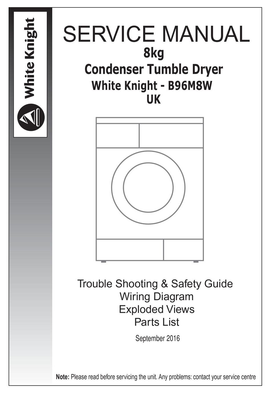 WHITE KNIGHT B96M8W SERVICE MANUAL Pdf Download | ManualsLib | White Knight Tumble Dryer Wiring Diagram |  | ManualsLib
