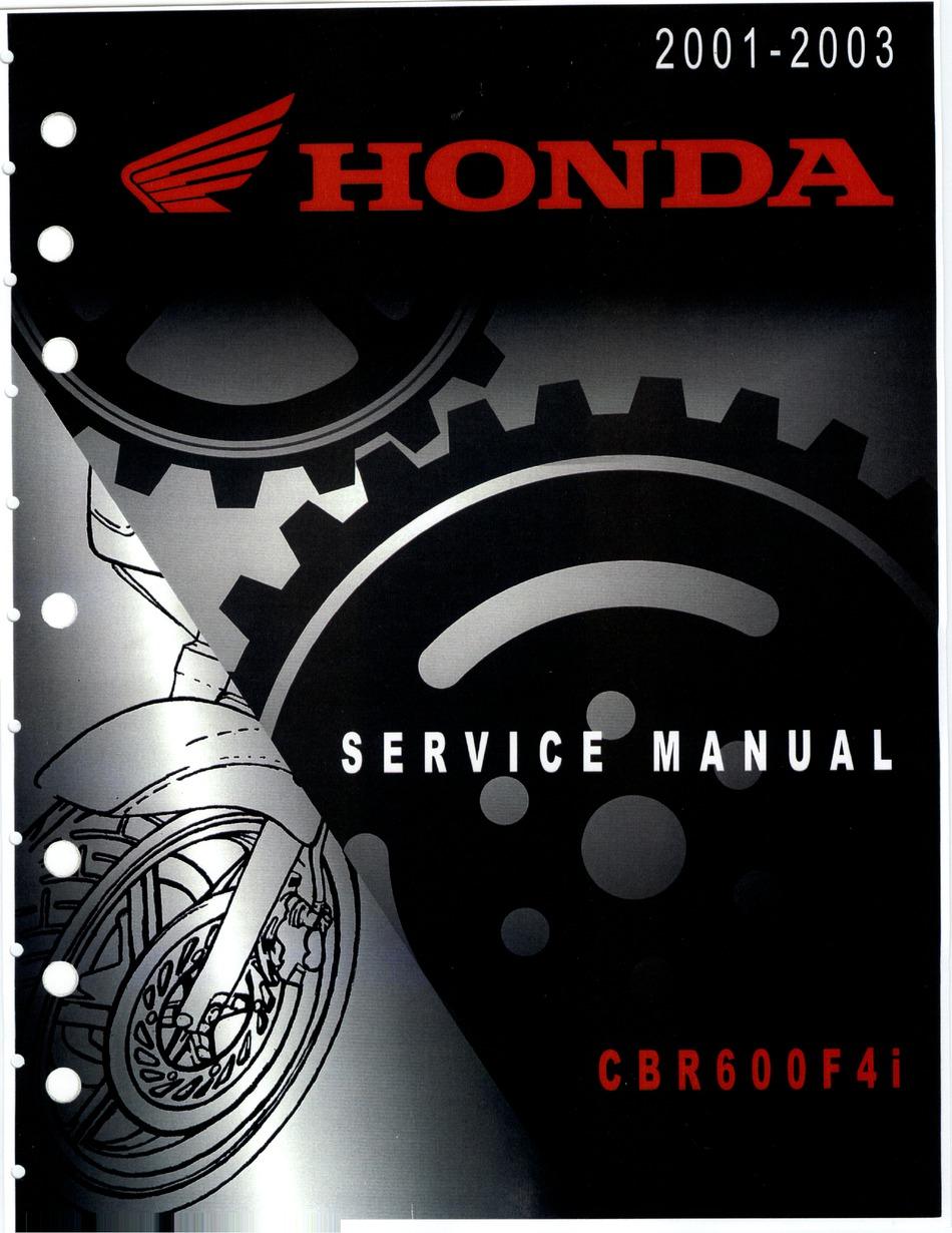 Honda Cbr600f4i 2001 Service Manual Pdf Download Manualslib