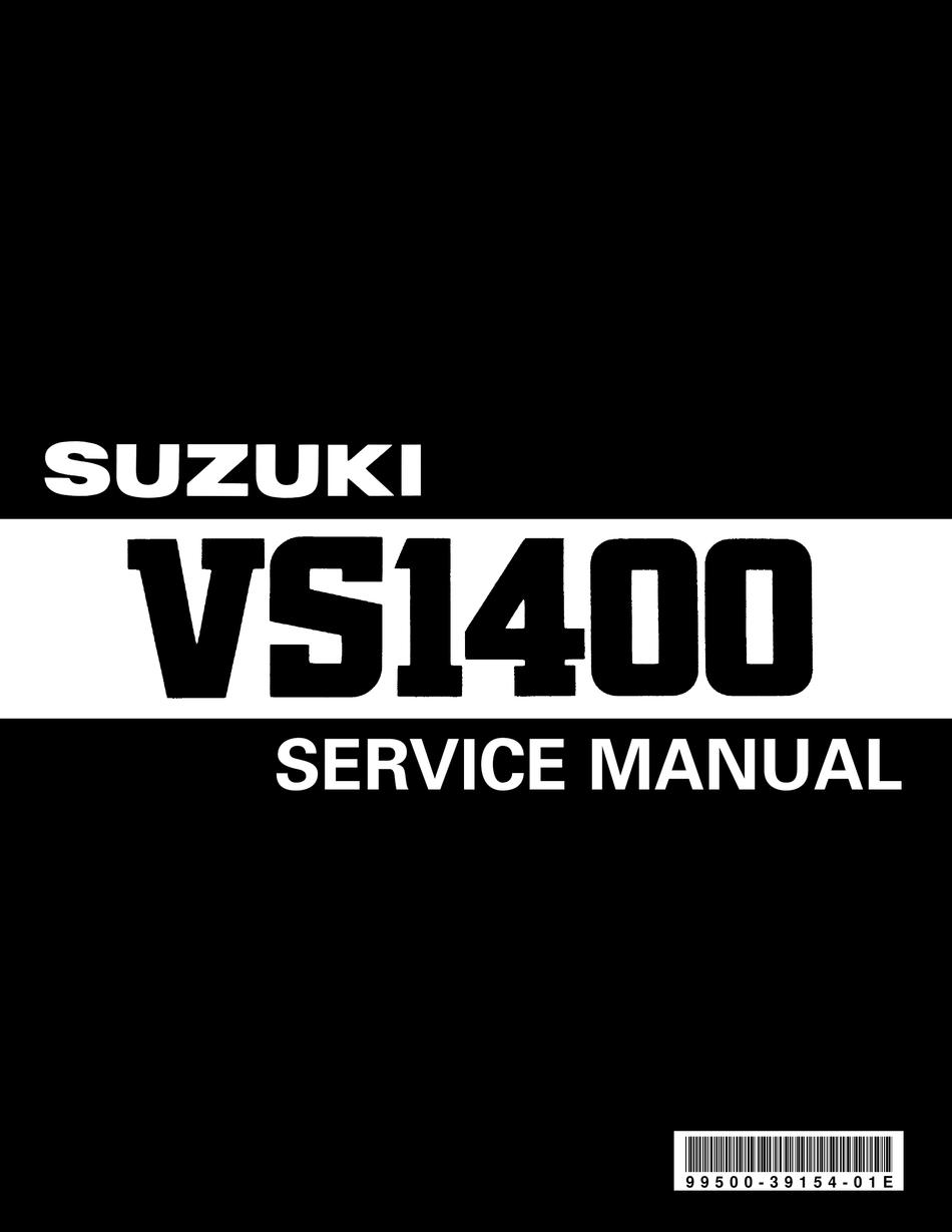 Suzuki Intruder Vs1400 Service Manual Pdf Download Manualslib