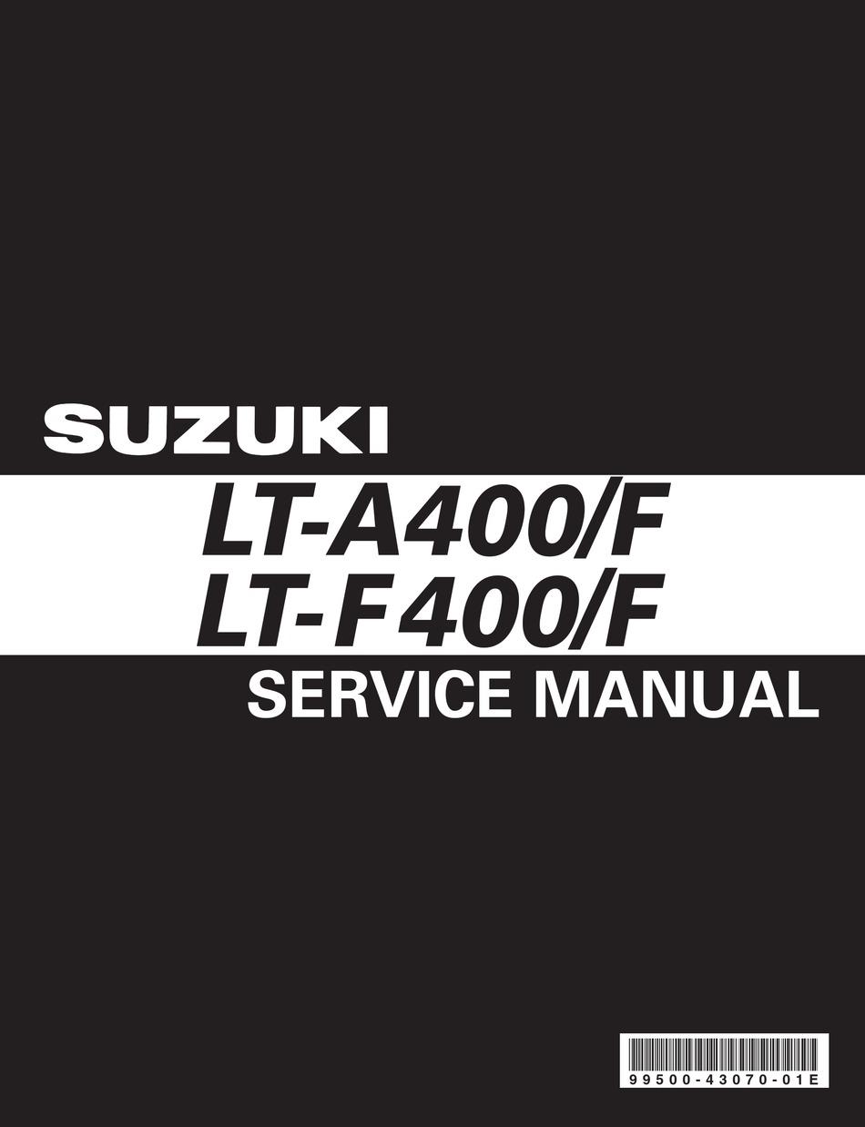 Suzuki Lt A400 Service Manual Pdf Download Manualslib