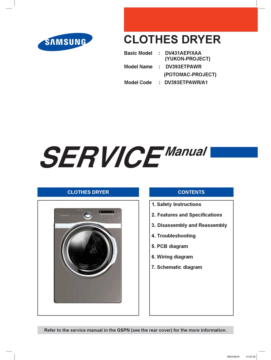 Samsung Dv431aew Xaa Manual Guide