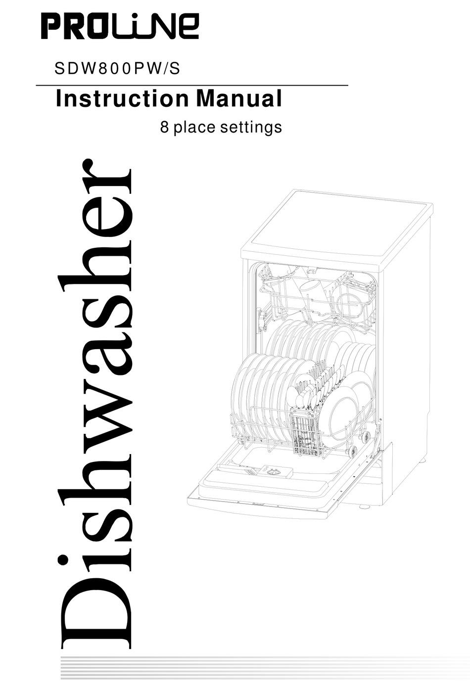 Proline Sdw800pw S Instruction Manual Pdf Download Manualslib