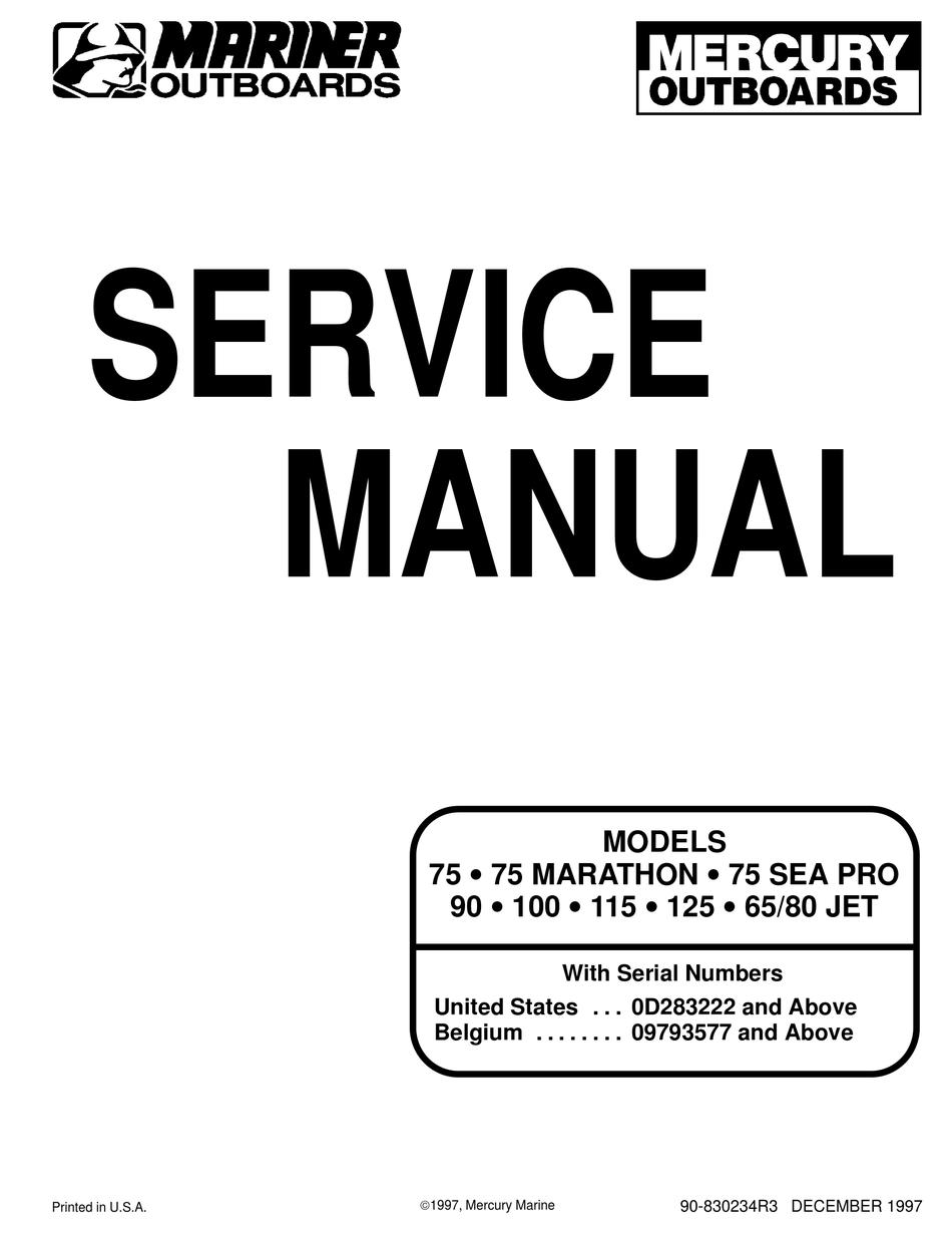 Mercury 75 Service Manual Pdf Download Manualslib