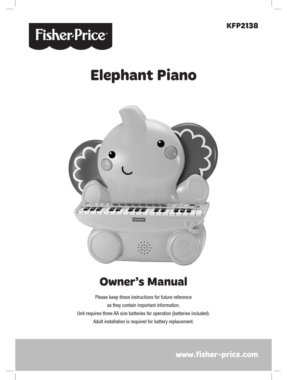 Fisher Price Kfp2138 Owner S Manual Pdf Download Manualslib