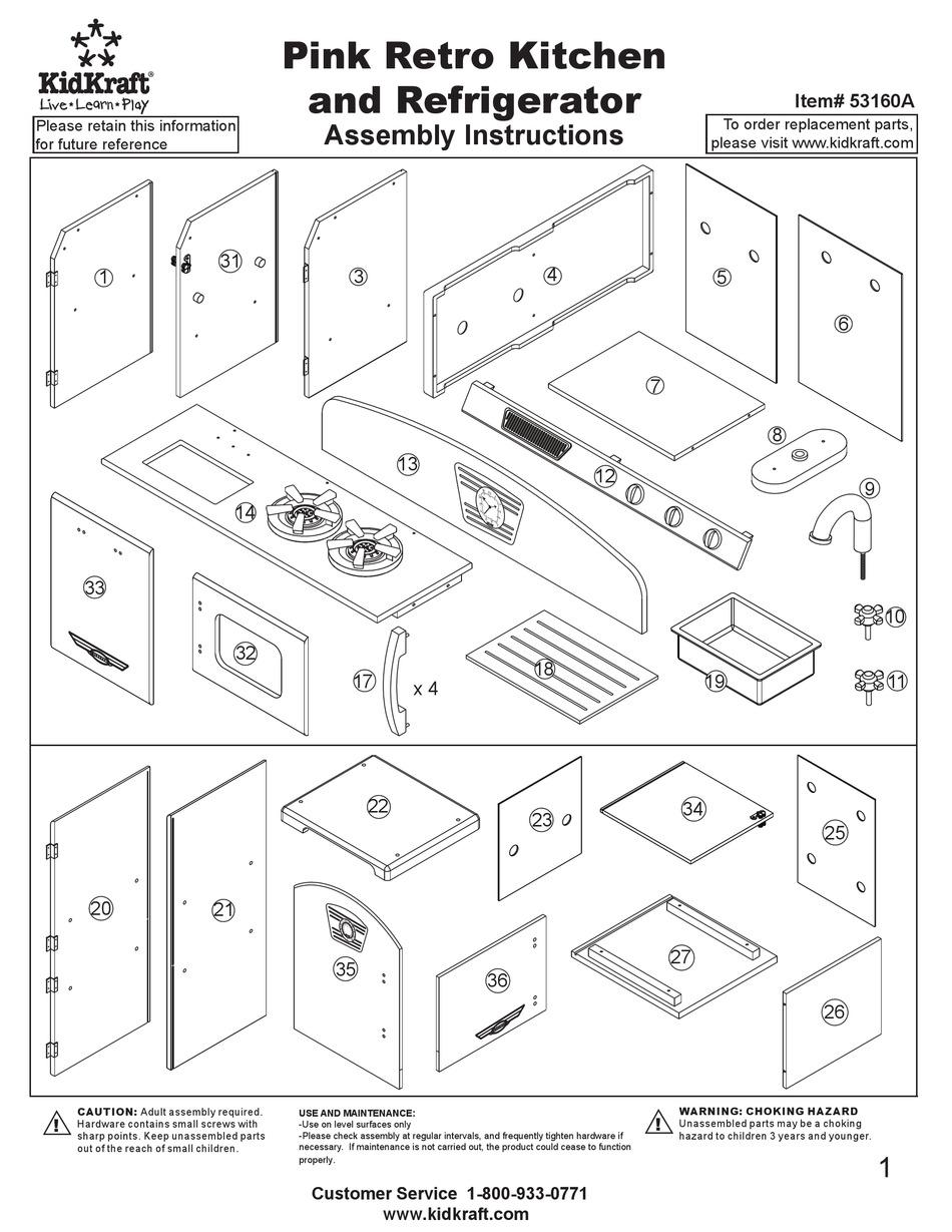 Kidkraft 53160a Assembly Instructions Manual Pdf Download Manualslib