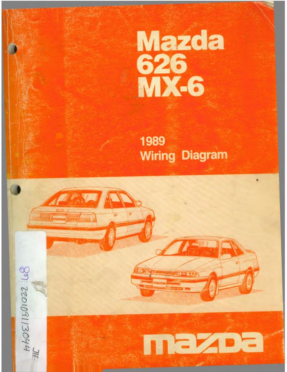 Mazda 626 Mx 6 1989 Wiring Diagram Pdf Download Manualslib