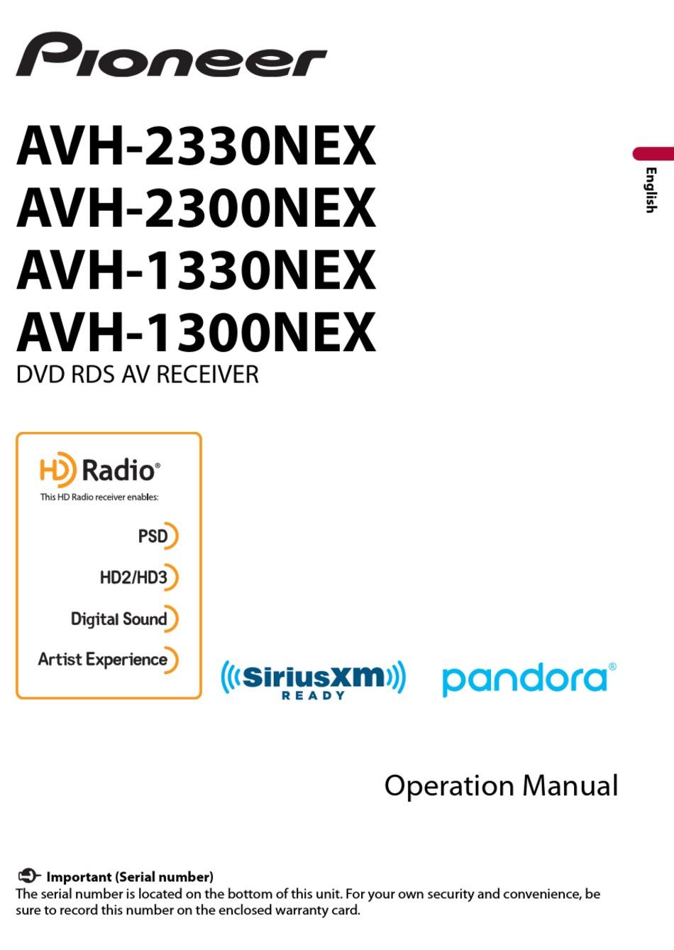 Pioneer Avh 2330nex Operation Manual Pdf Download Manualslib
