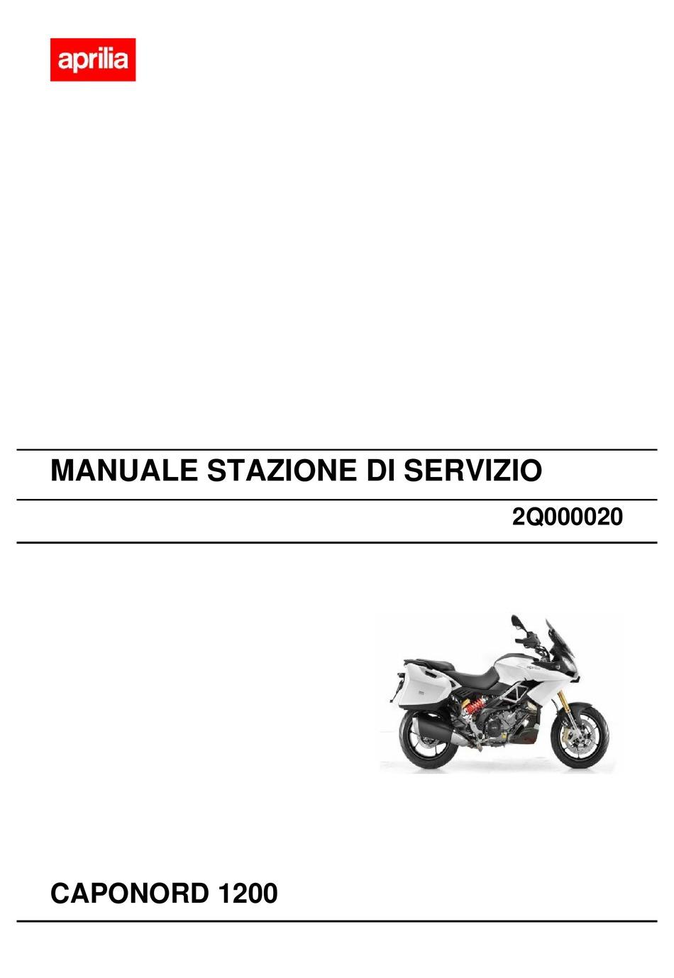 Aprilia Caponord 1200 Service Station Manual Pdf Download Manualslib