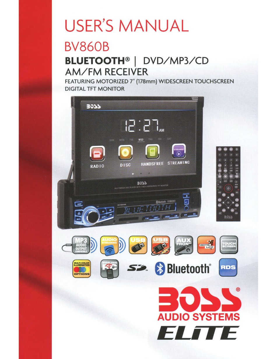 BOSS AUDIO SYSTEMS BV860B USER MANUAL Pdf Download | ManualsLibManualsLib