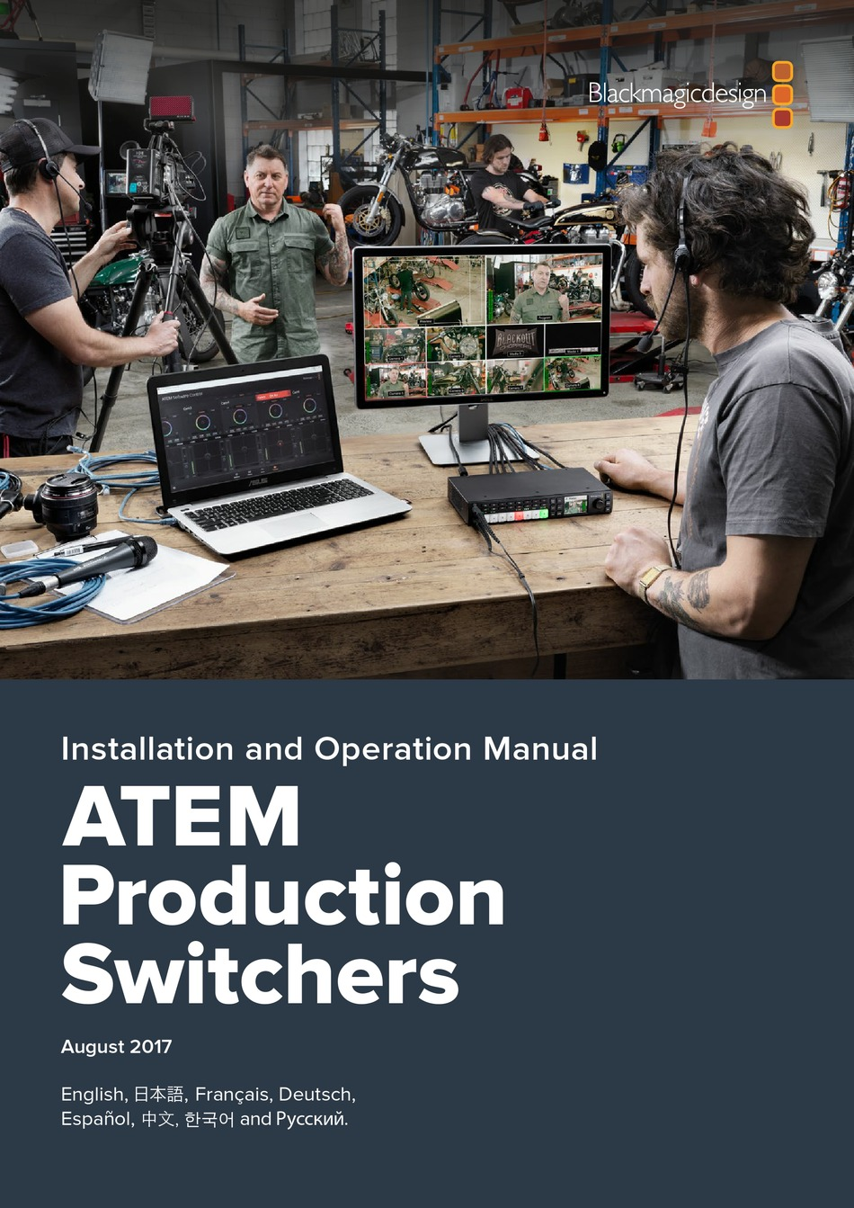 Blackmagicdesign Atem Production Studio 4k Installation And Operation Manual Pdf Download Manualslib