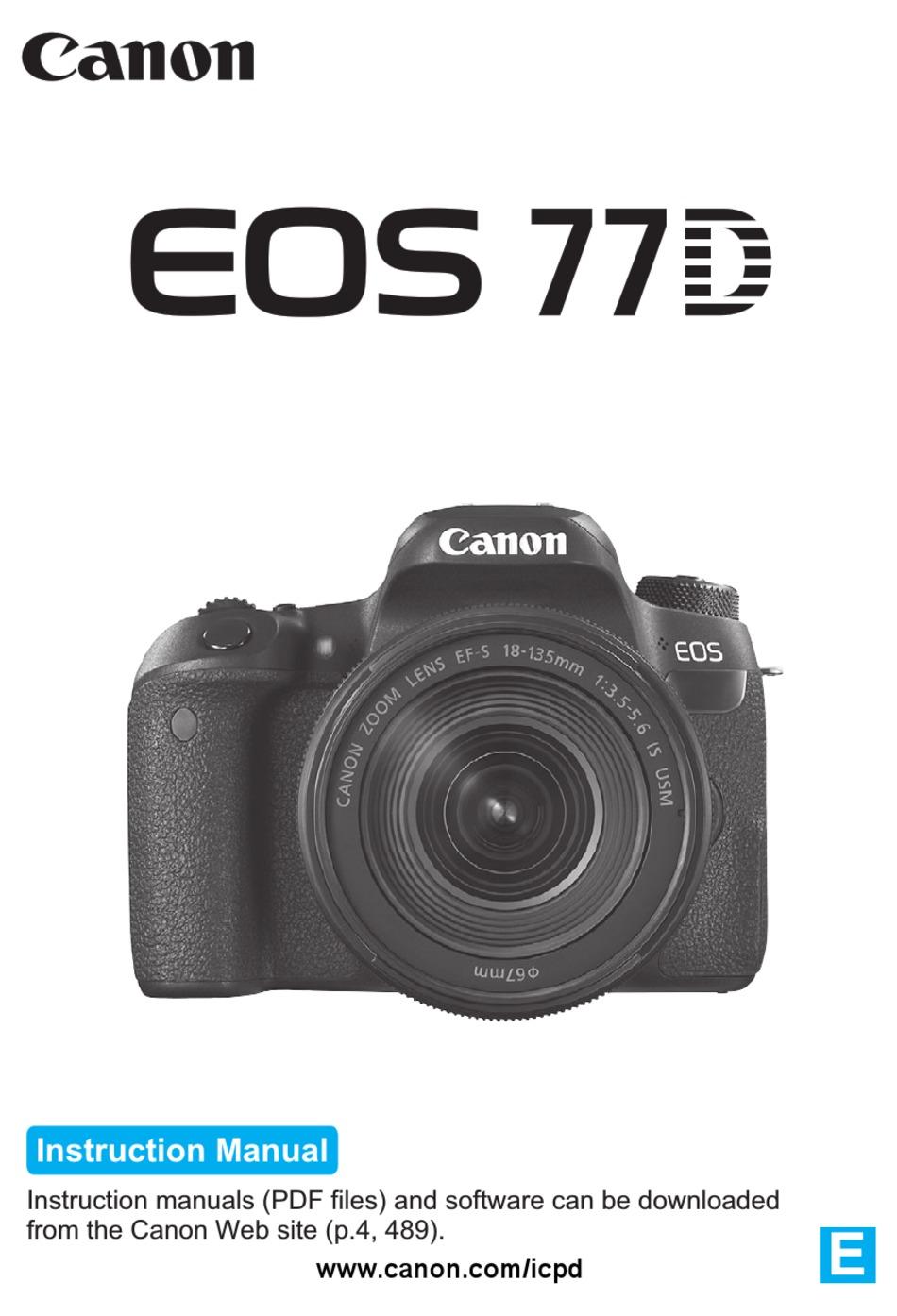 CANON EOS 20D INSTRUCTION MANUAL Pdf Download   ManualsLib