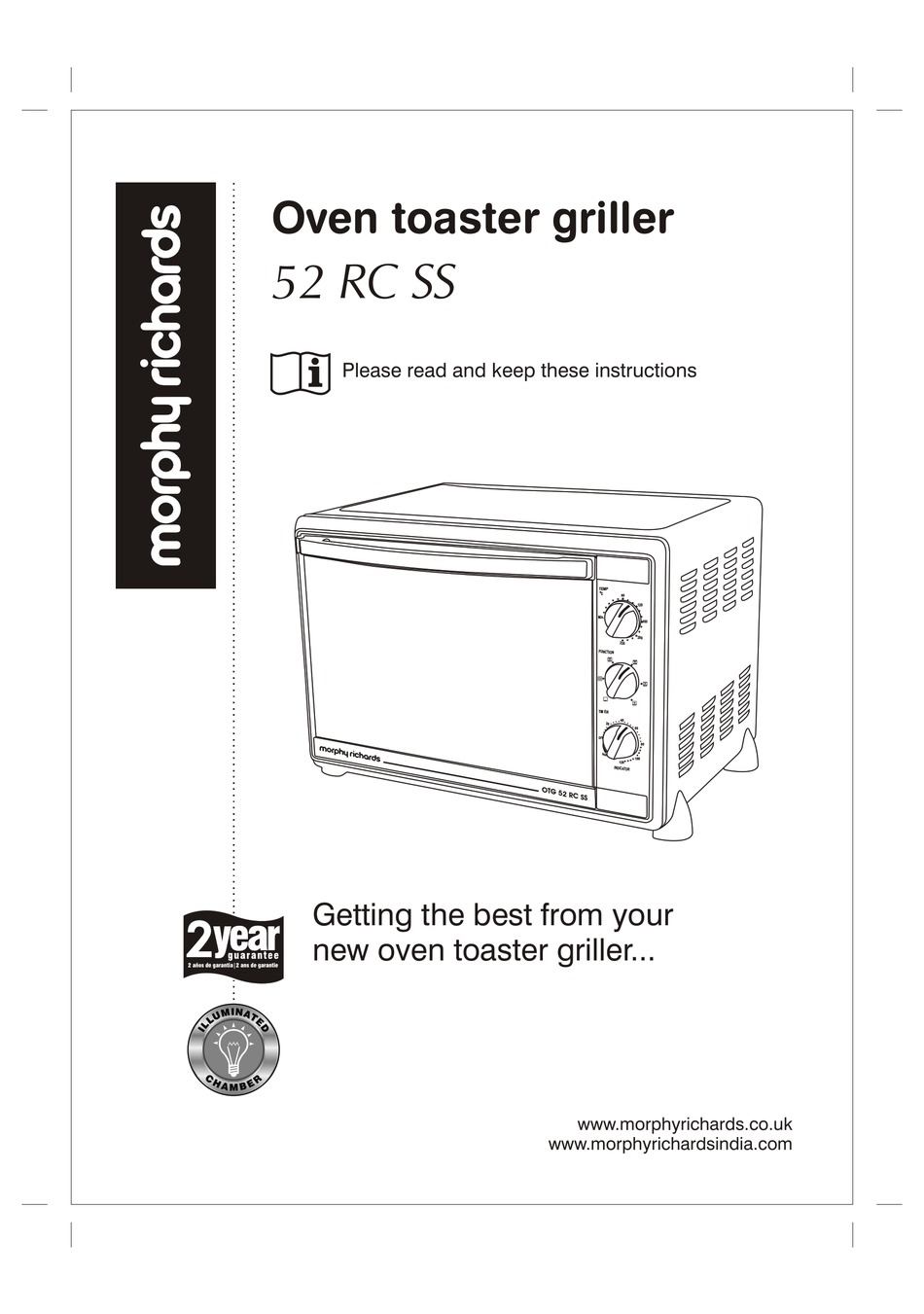 Morphy Richards 52 Rc Ss Instructions Manual Pdf Download Manualslib Fulfil your cravings at home with morphy richards otg 52rcss! morphy richards 52 rc ss instructions