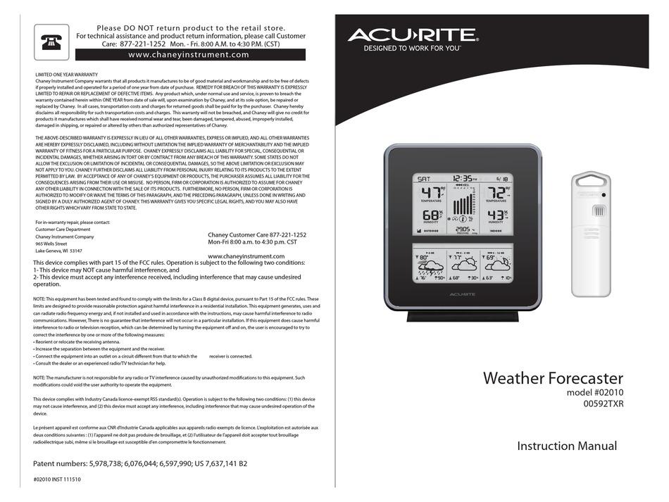 ACU-RITE 02010 INSTRUCTION MANUAL Pdf Download | ManualsLib