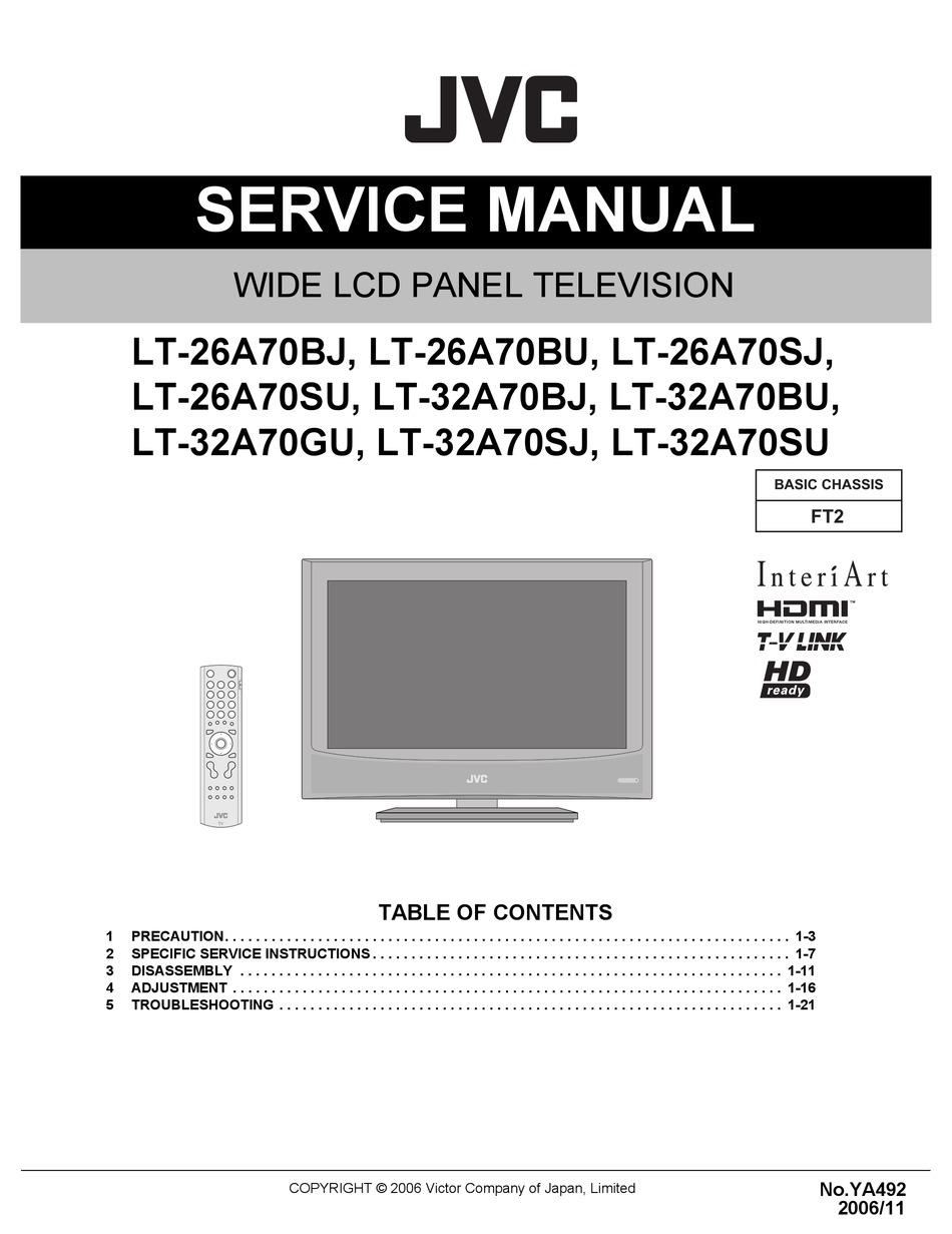 Free download Jvc KVDV 7 Service Manual