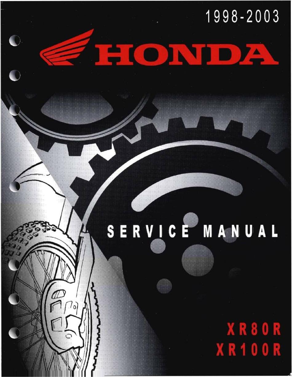 Honda Xr80r Service Manual Pdf Download Manualslib