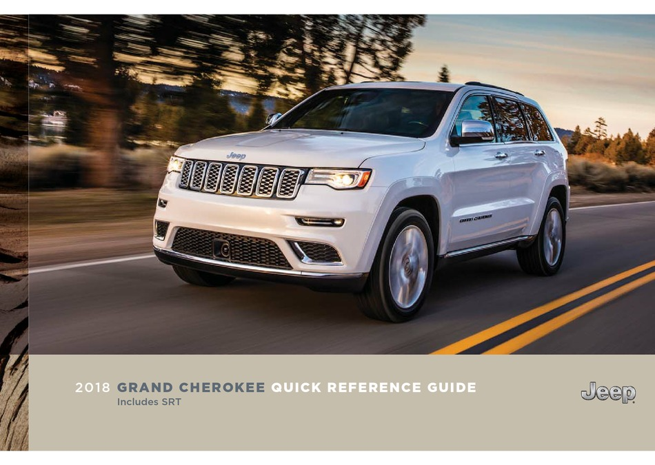 Diagnostic & Test Tools 2018 Jeep Grand Cherokee Owners Manual ...