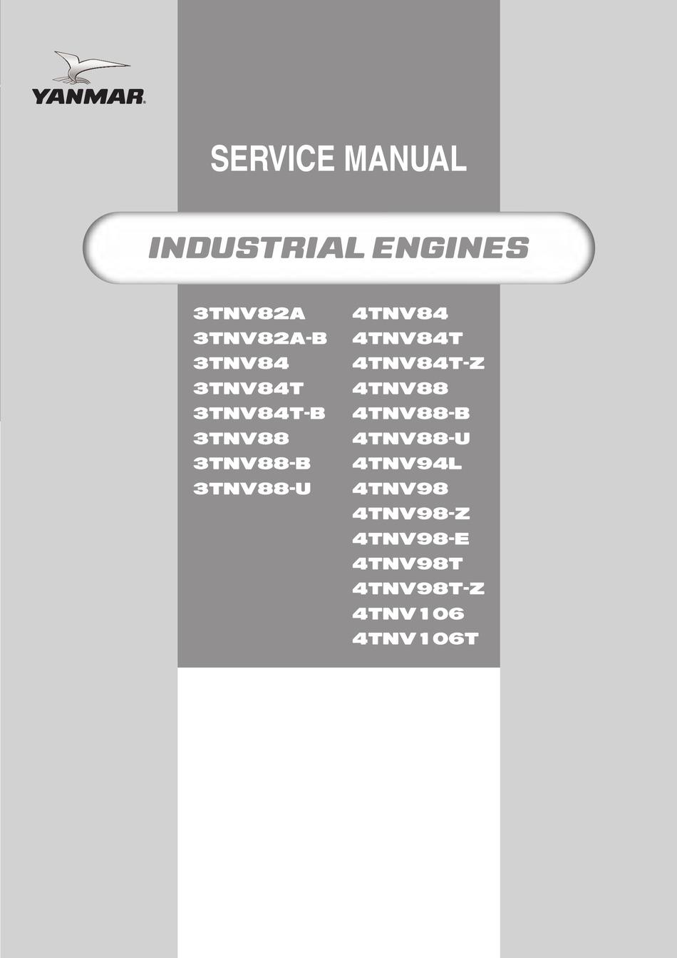 Yanmar 3tnv82a B Service Manual Pdf Download Manualslib