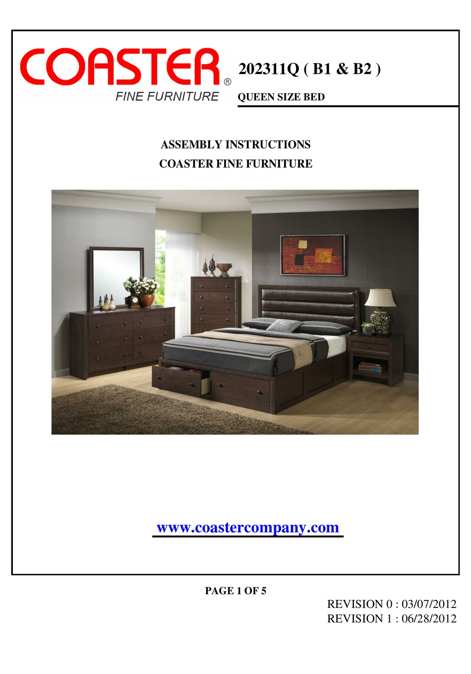 Coaster Company Furniture Assembly Instructions Download coaster bedroom furniture