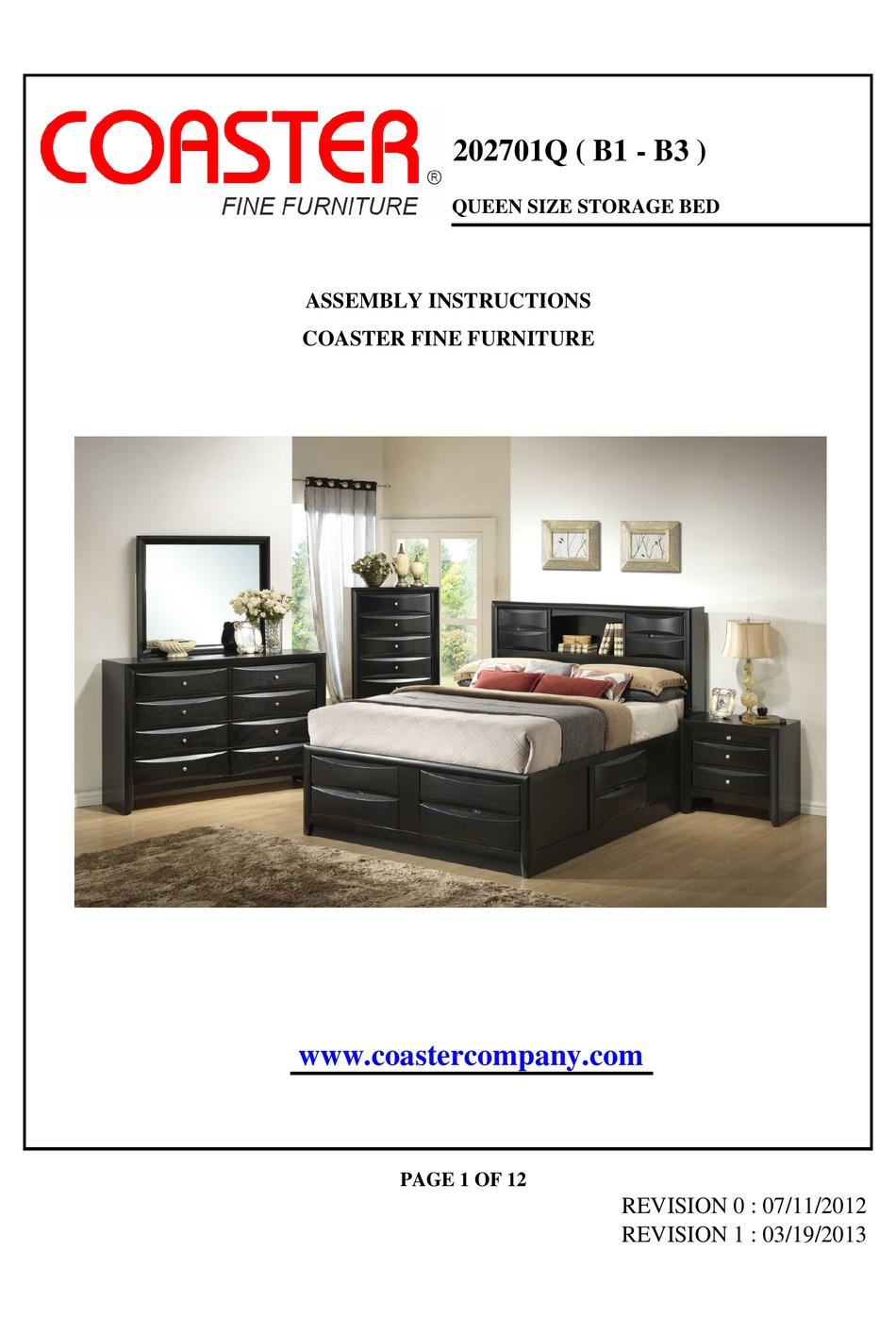 Coaster Jessica Platform Bed Assembly Instructions Download coaster bedroom furniture