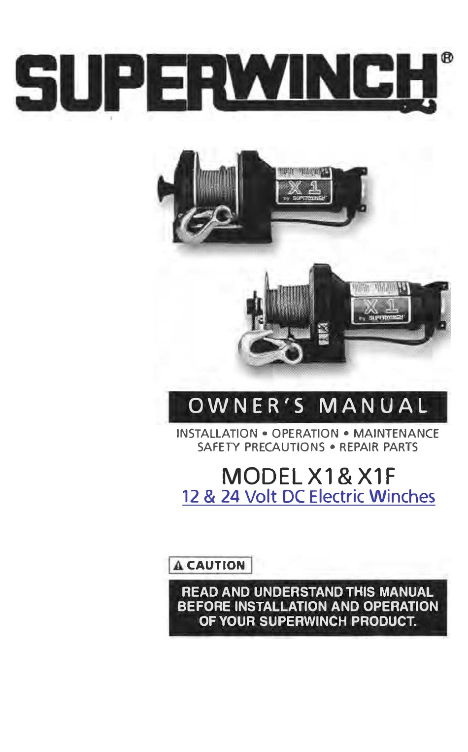 SUPERWINCH X1 OWNER'S MANUAL Pdf Download | ManualsLib | X1 Superwinch Wiring Diagram |  | ManualsLib