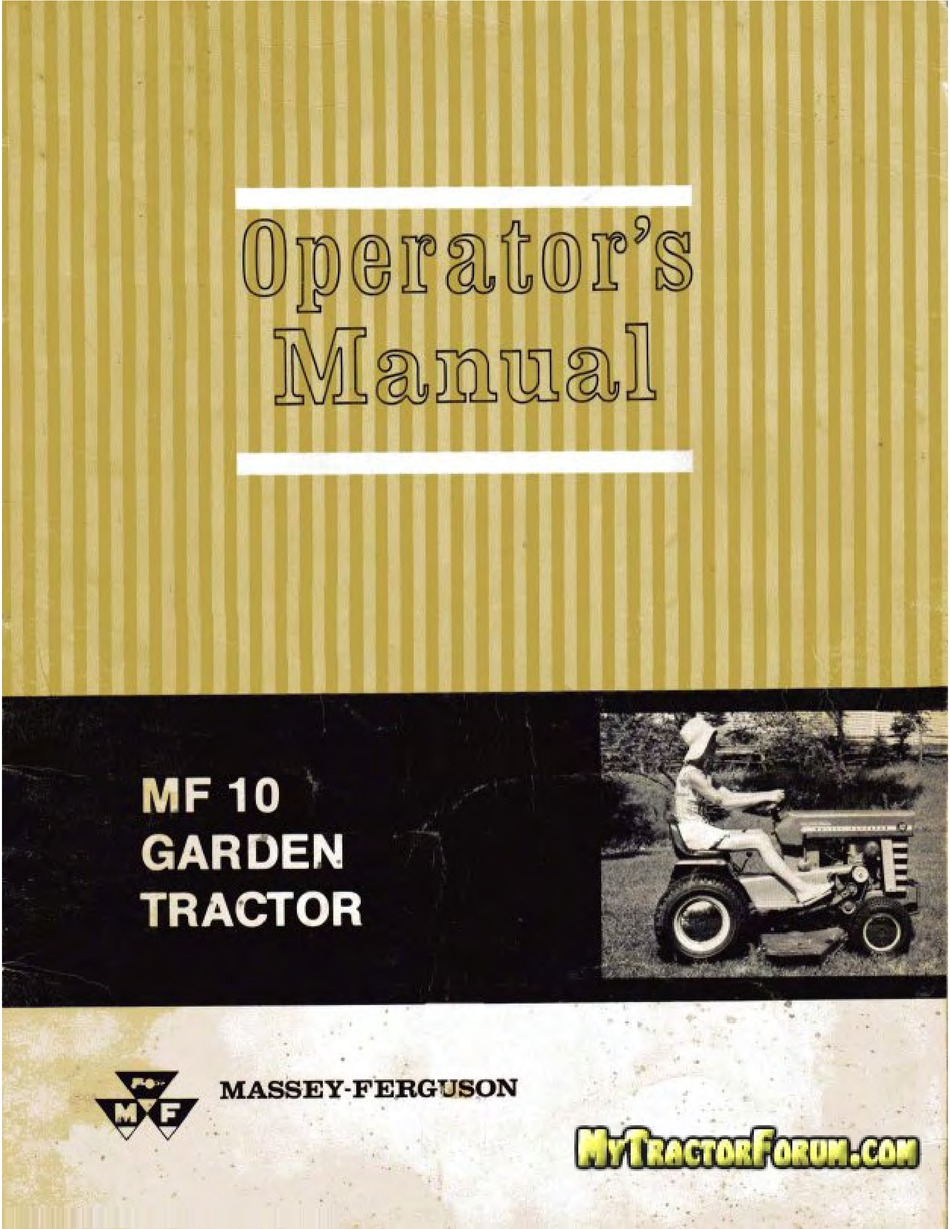 Massey Ferguson Mf 10 Operator S Manual Pdf Download Manualslib