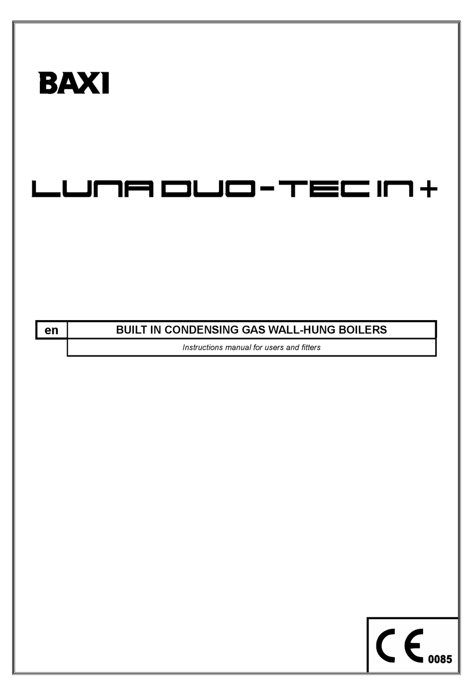 BAXI LUNA DUO-TEC IN+ INSTRUCTION MANUAL FOR USERS AND FITTERS Pdf Download  | ManualsLib | Baxi Luna 3 Piping Diagram |  | ManualsLib