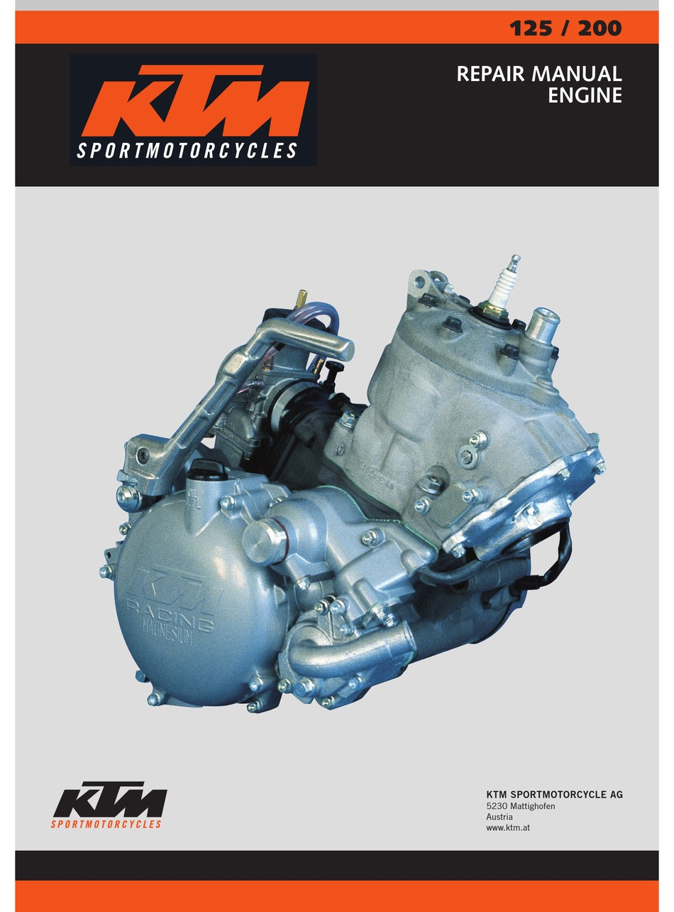 Ktm 125 Repair Manual Pdf Download Manualslib