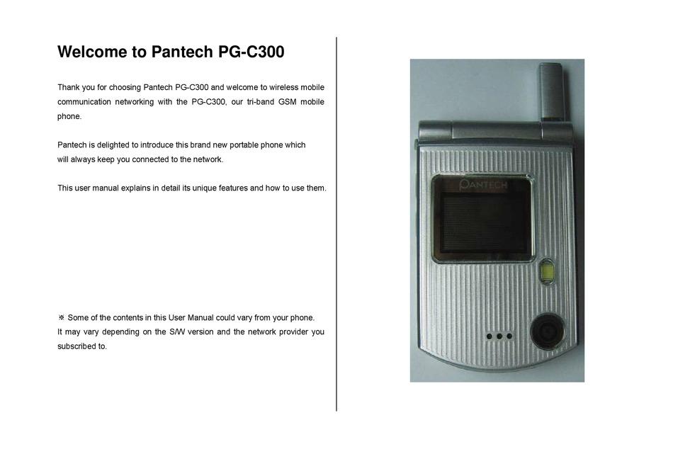 Pantech Pg C300 User Manual Pdf Download Manualslib