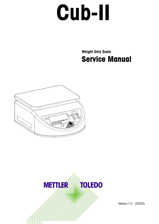 Mettler Toledo Cub Ii Service Manual Pdf Download Manualslib
