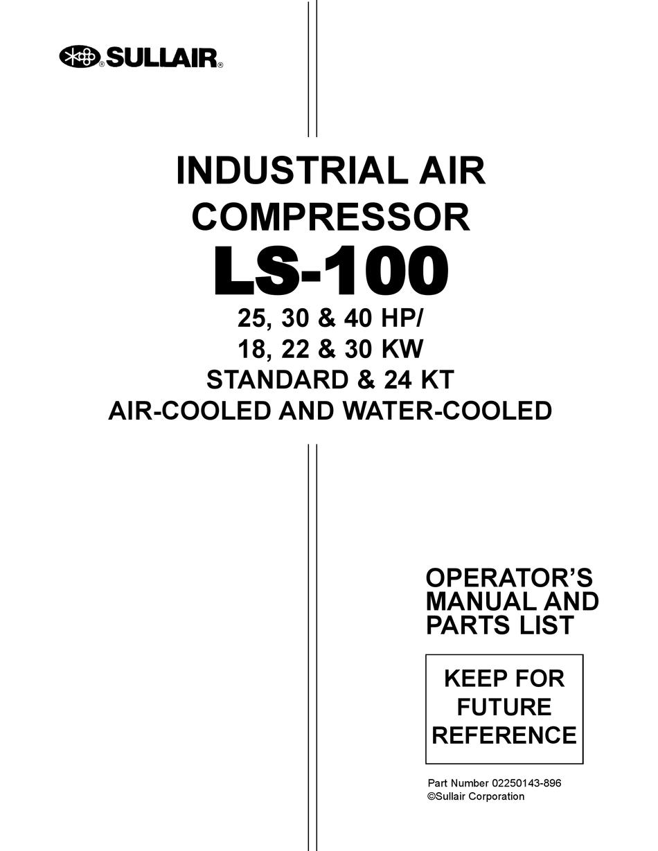 SULLAIR LS-100L OPERATOR'S MANUAL Pdf Download | ManualsLibManualsLib