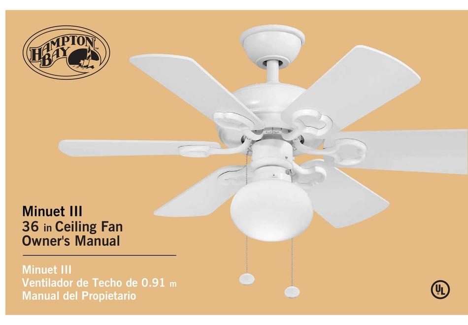 Hampton Bay Minuet Iii Owner S Manual Pdf Download Manualslib