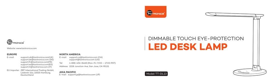 Taotronics Tt Dl13 User Manual Pdf Download Manualslib