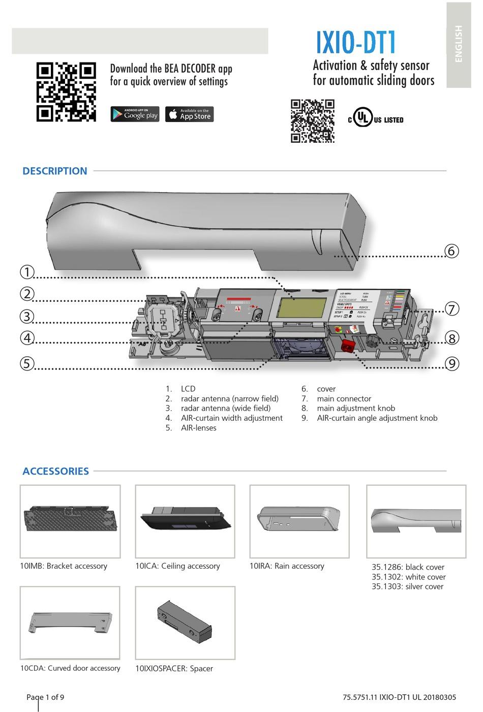 BEA IXIO-DT1 MANUAL Pdf Download | ManualsLib | Dt1 Wiring Diagram |  | ManualsLib