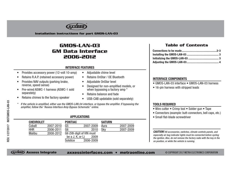 axxess gmoslan03 installation instructions pdf download