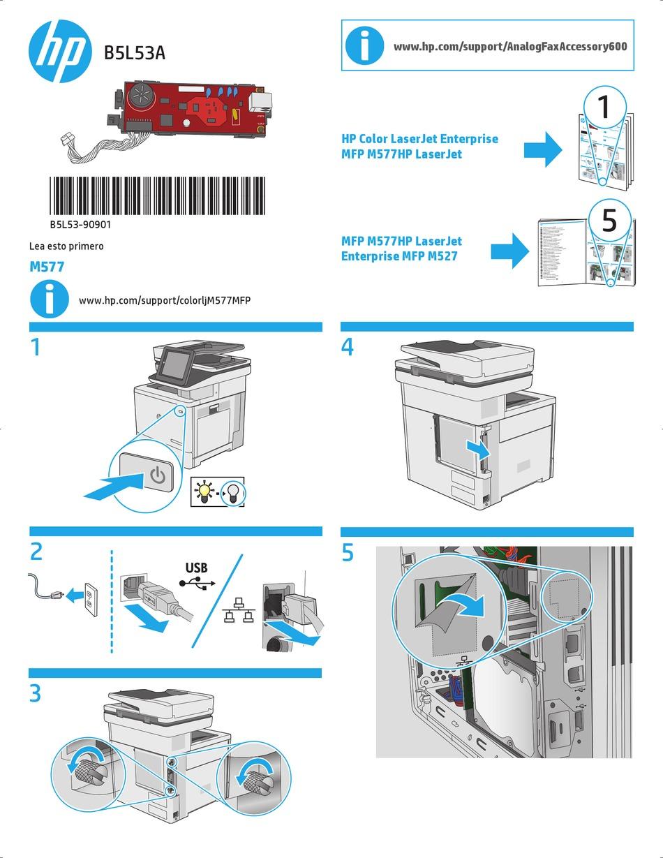 Hp B5l53a Install Manual Pdf Download Manualslib