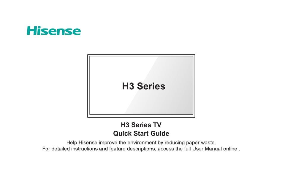 Hisense 32h3d Quick Start Manual Pdf Download Manualslib