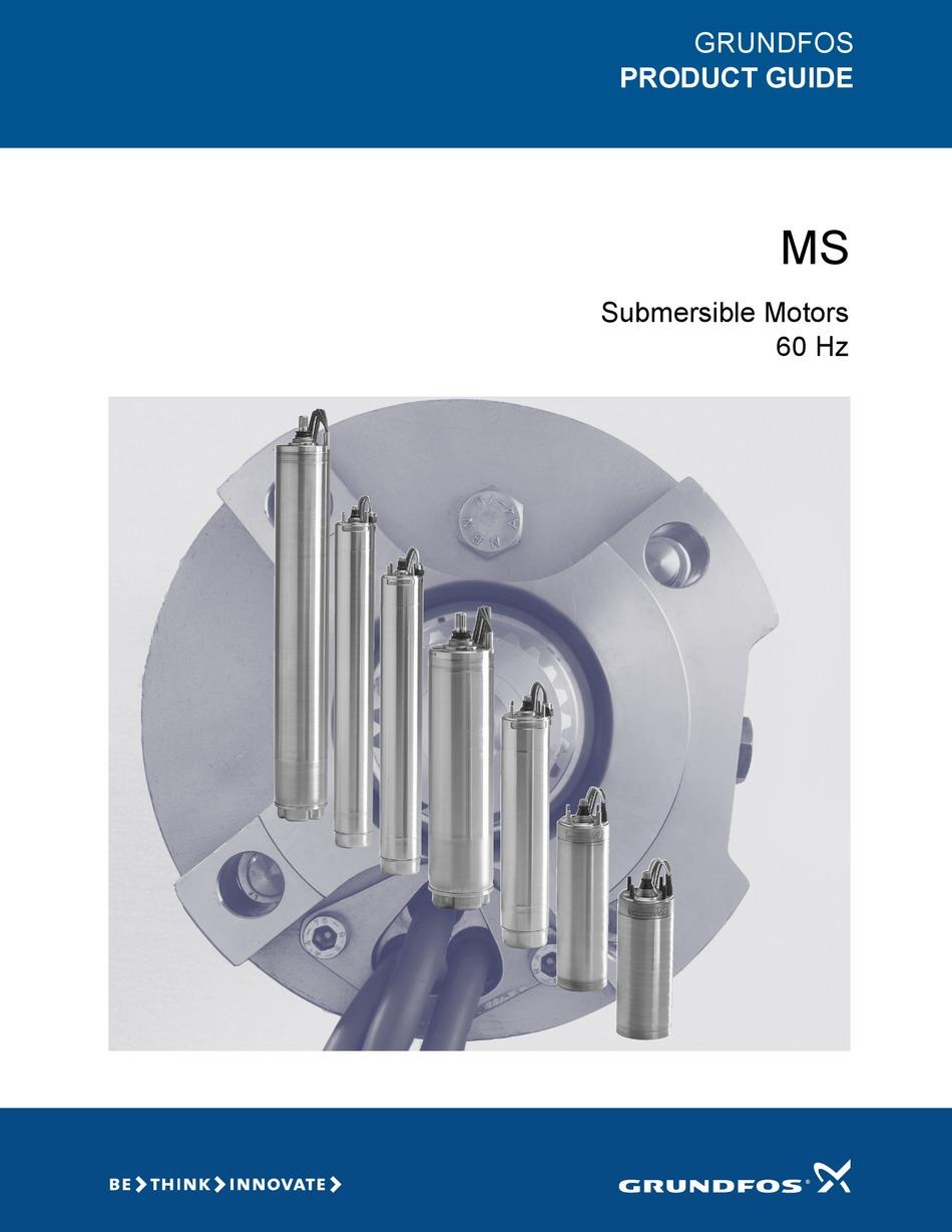 Grundfos Ms 4000 Product Manual Pdf Download Manualslib