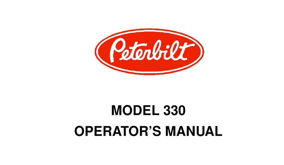 Peterbilt 330 Operator S Manual Pdf Download Manualslib