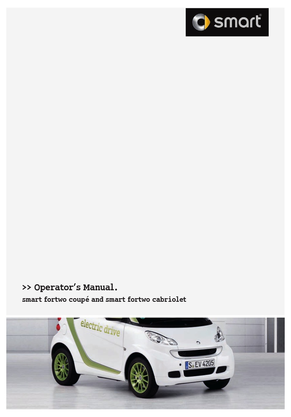 GENUINE SMART FORTWO COUPE CABRIO 2007-2010 OWNER/'S MANUAL HANDBOOK WALLET #O438