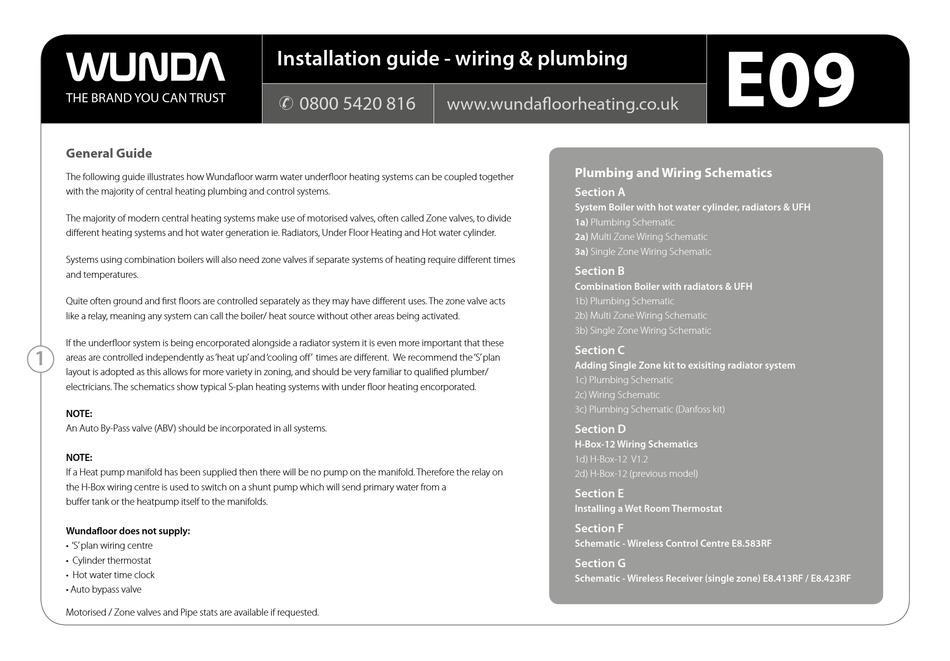 WUNDA E09 INSTALLATION MANUAL Pdf Download | ManualsLib | Wunda Underfloor Heating Wiring Diagram |  | ManualsLib