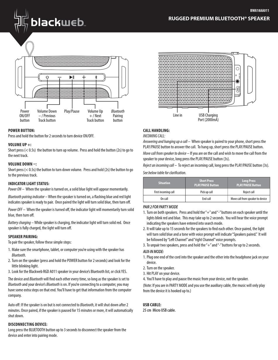 BLACKWEB BWA9AA9 INSTRUCTIONS Pdf Download  ManualsLib