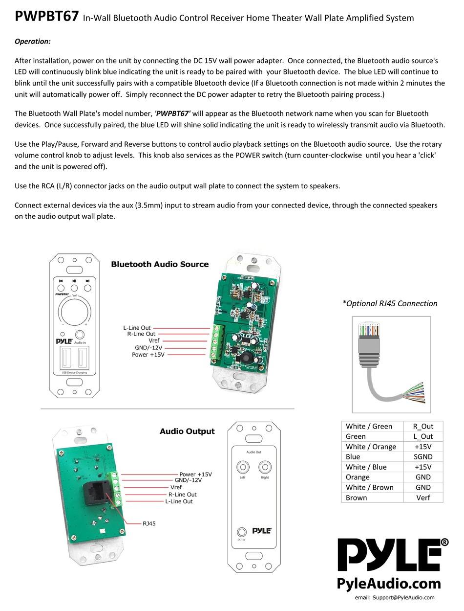 Pyle Pwpbt67 User Manual Pdf Download Manualslib