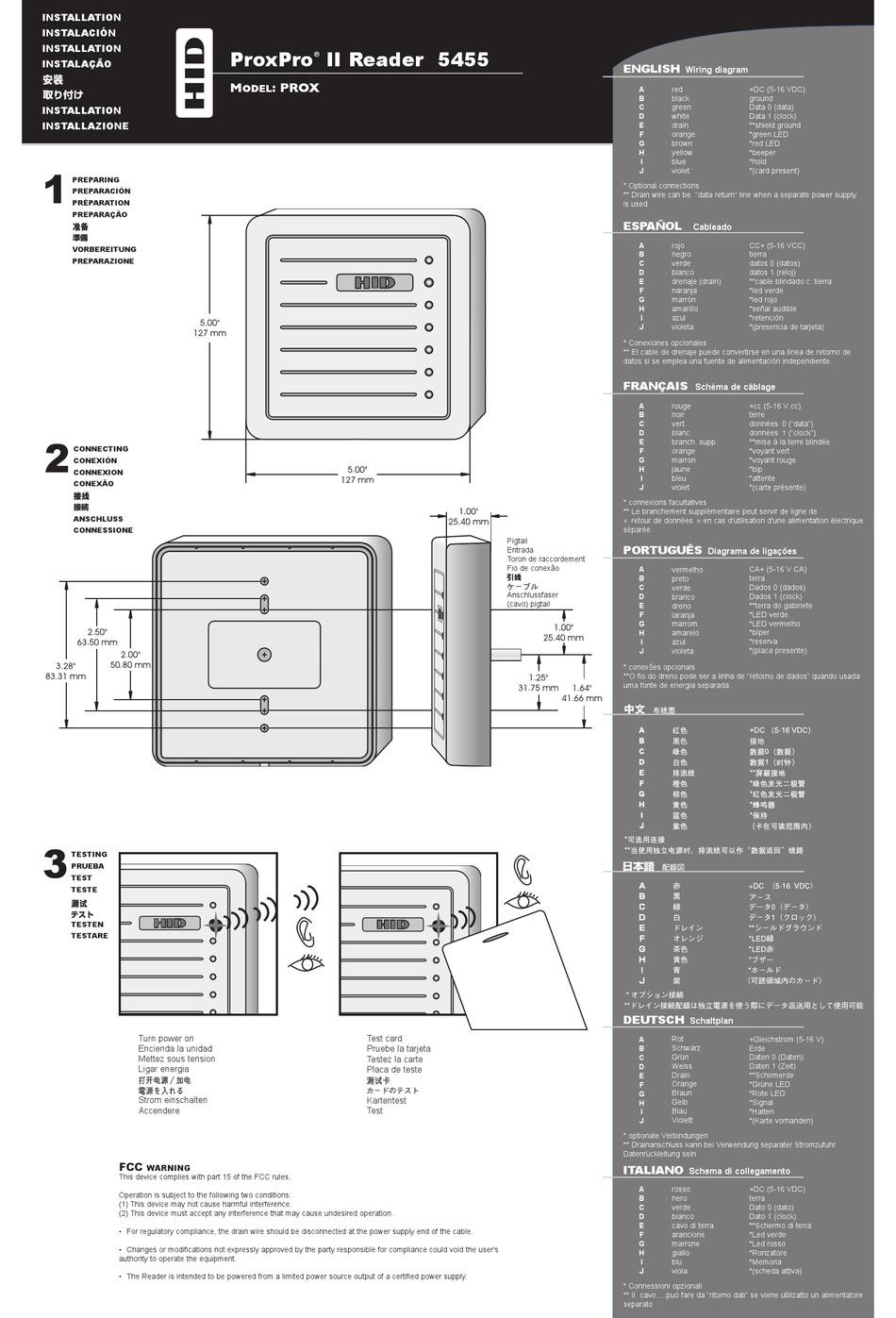 HID PROXPRO II 5455 INSTALLATION MANUAL Pdf Download | ManualsLib | Proxpro Hid Wiring Diagram |  | ManualsLib