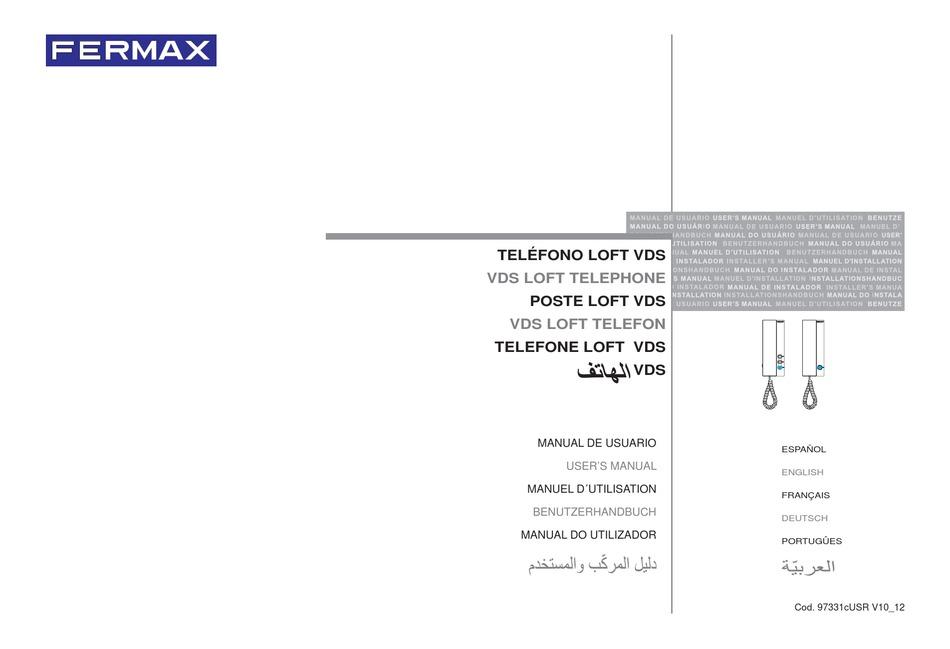 fermax loft vds extra user manual pdf download  manualslib