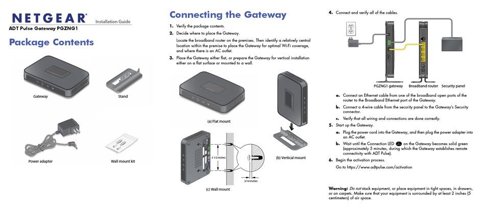 NETGEAR ADT PULSE GATEWAY PGZNG1 INSTALLATION MANUAL Pdf Download    ManualsLib   Adt Pulse Wiring Diagram      ManualsLib