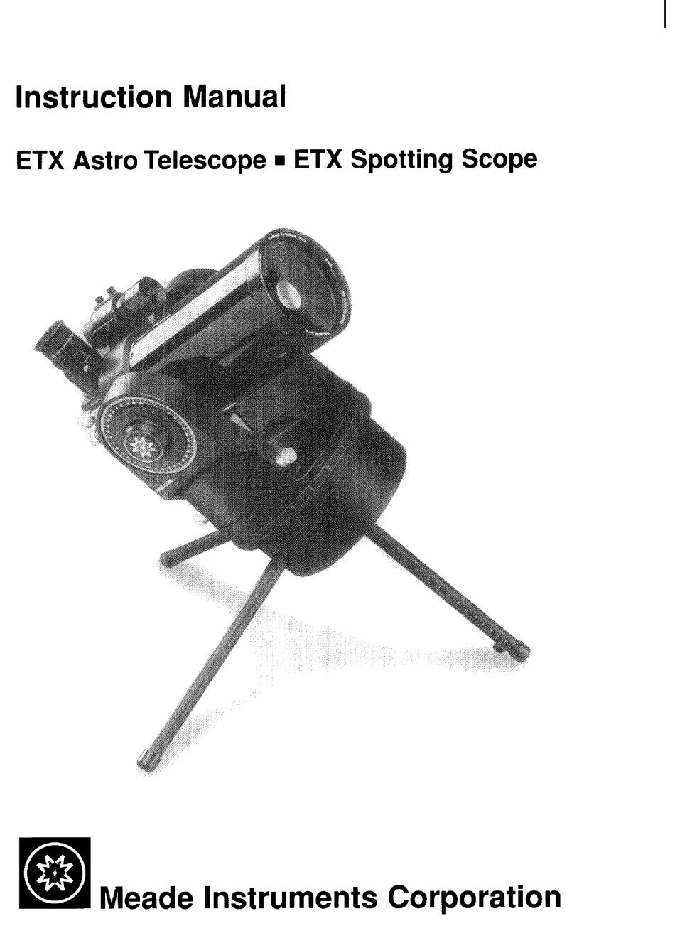 Meade Etx Astro Telescope Spotting