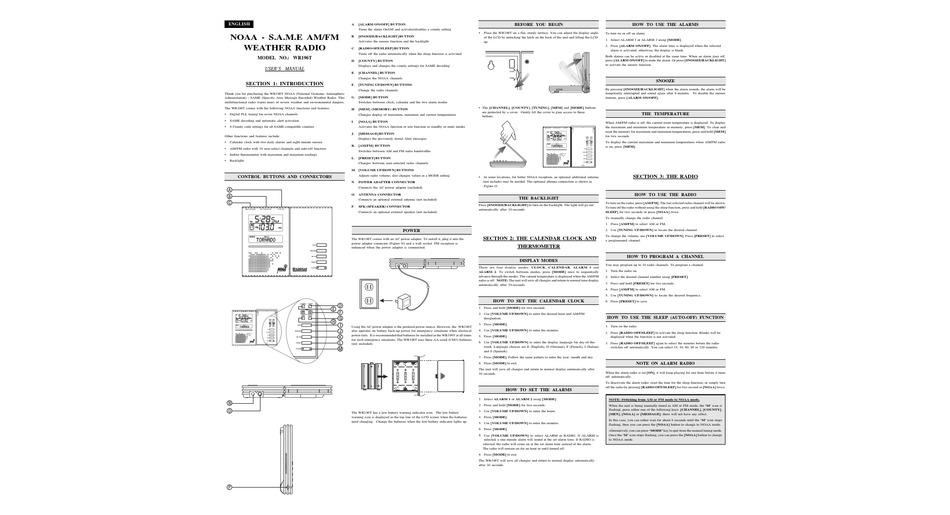 Oregon Scientific Wr196t User Manual Pdf Download Manualslib